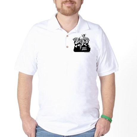 White Power Golf Shirt