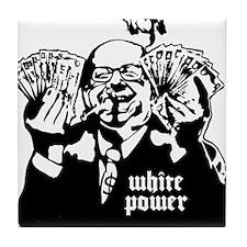 White Power Tile Coaster