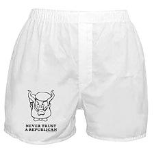 Never Trust a Republican Boxer Shorts