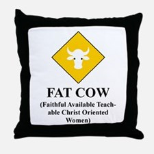 FAT COW Throw Pillow