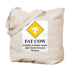 FAT COW Tote Bag