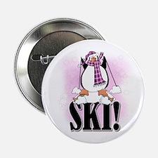 "Penguin Ski 2.25"" Button"