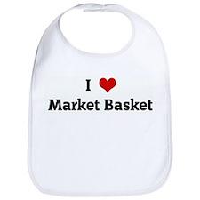 I Love Market Basket Bib