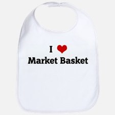 I Love Market Basket Bib