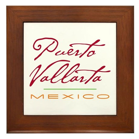 Puerto Vallarta - Framed Tile
