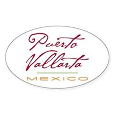 Puerto Vallarta - Oval Decal