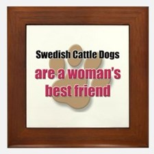 Swedish Cattle Dogs woman's best friend Framed Til