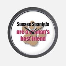 Sussex Spaniels woman's best friend Wall Clock