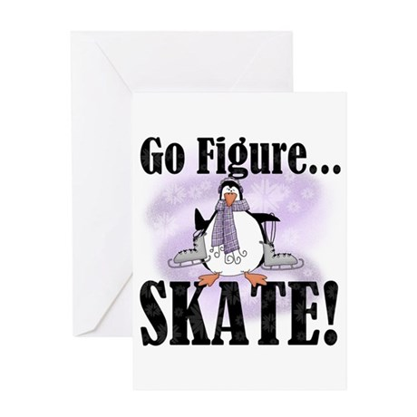 Penguin Figure Skating Greeting Card