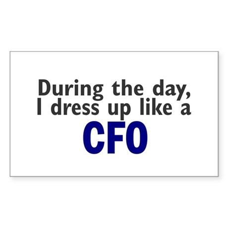 Dress Up Like A CFO Rectangle Sticker