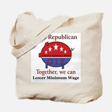 Wage Pig Tote Bag