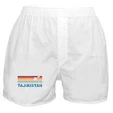 Retro Palm Tree Tajikistan Boxer Shorts