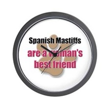 Spanish Mastiffs woman's best friend Wall Clock