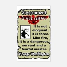 """Washington: Gov't Is Like Fire"" Decal"