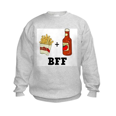 Ketchup & French Fries BFF Kids Sweatshirt