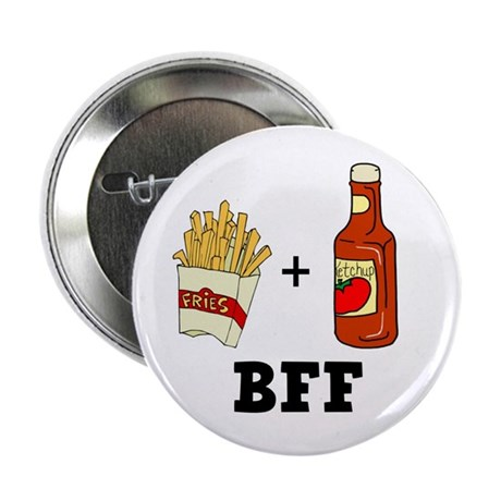 """Ketchup & French Fries BFF 2.25"""" Button (10 pack)"""