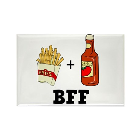Ketchup & French Fries BFF Rectangle Magnet (10 pa