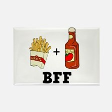 Ketchup & French Fries BFF Rectangle Magnet