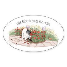 The Fuzz Butt Gardener Oval Sticker (10 pk)