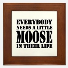 Cute Moose Framed Tile