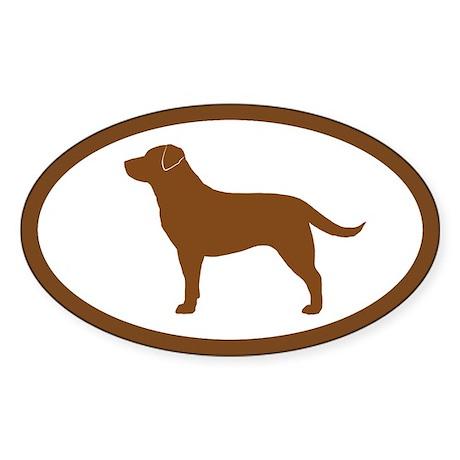Chocolate Lab Oval Sticker (10 pk)