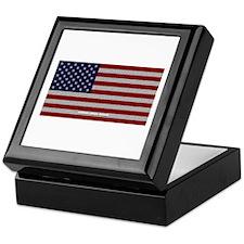 American Cloth Flag Keepsake Box