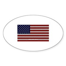 American Cloth Flag Oval Decal