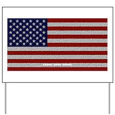 American Cloth Flag Yard Sign