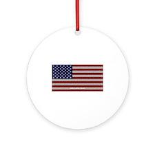 American Cloth Flag Ornament (Round)