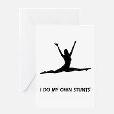 Dancer Jump Stunts Greeting Card