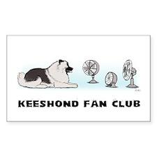 Keeshond Fan Club Rectangle Sticker 10 pk)