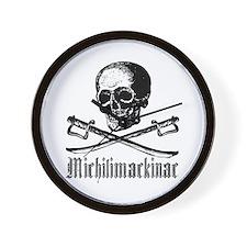 Michilimackinac Pirate Wall Clock