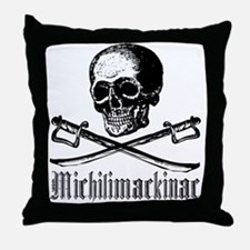 Michilimackinac Pirate Throw Pillow