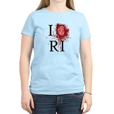I Love RI Women's Light T-Shirt
