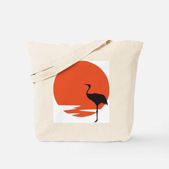 Crane bird Tote Bag