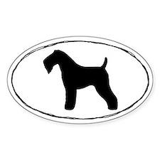 Kerry Blue Terrier Oval Sticker (10 pk)