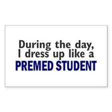 Dress Up Like A PreMed Student Rectangle Decal