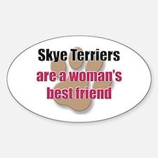 Skye Terriers woman's best friend Oval Decal