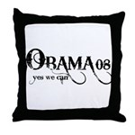 Obama Yes We Can Throw Pillow