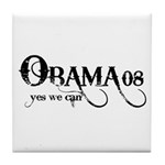 Obama Yes We Can Tile Coaster