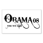 Obama Yes We Can Rectangle Sticker