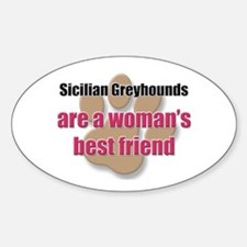 Sicilian Greyhounds woman's best friend Decal