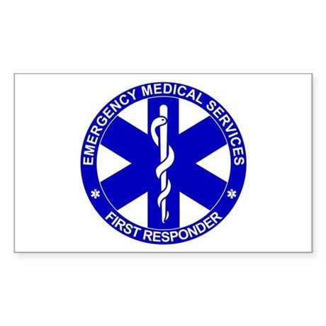 First Responder SOL Rectangle Sticker