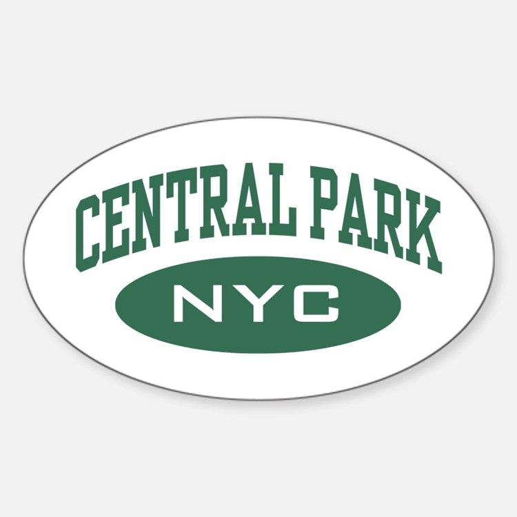 Central Park NYC Oval Decal