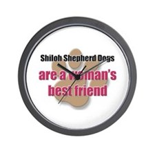 Shiloh Shepherd Dogs woman's best friend Wall Cloc