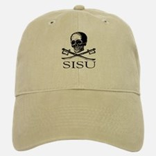 Sisu skull and crossbones Baseball Baseball Cap