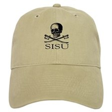 Sisu skull and crossbones Baseball Cap
