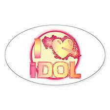 I Heart Idol Oval Decal