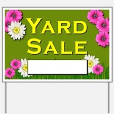 Yard Sale (flowers) Yard Sign