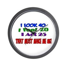 I Look 40, That Must Make Me 85! Wall Clock
